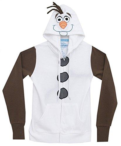 Disney Frozen I Am Olaf Junioren Zip Up Kapuzen-Sweatshirt | XS (Junioren Disney Sweatshirt)