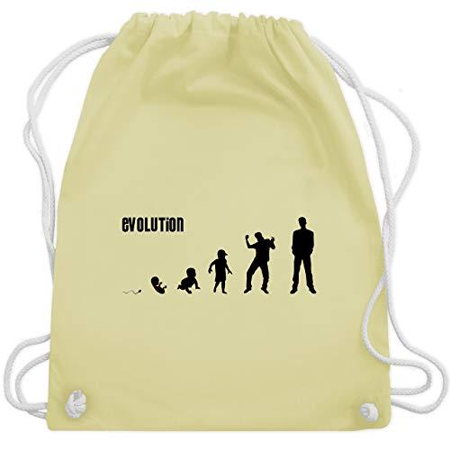 Shirtracer Evolution - Mann Evolution - Unisize - Pastell Gelb - WM110 - Turnbeutel und Stoffbeutel aus Bio-Baumwolle