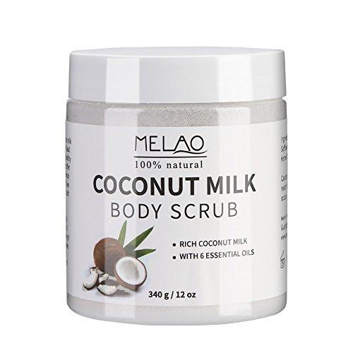 Pure Body Naturals Kokosmilch Peeling Körper Scrub Badesalz, Natürliches Body-Scrub Körperpeeling...