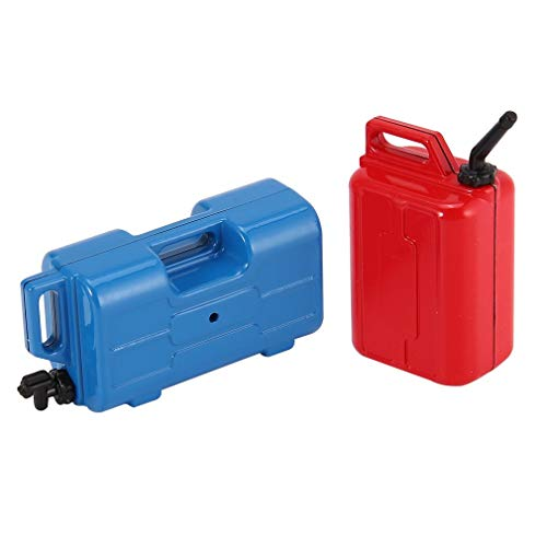 leoboone 2Pcs Mini Fuel Oil Gasoline Simulated Tank Container Mounts for 1/10 AX10 SCX10 RC4WD TRX-4 Off-Road Crawler RC Car Vehicle