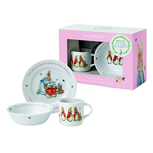 (Wedgwood Peter Rabbit Flopsy, Mopsy und Cotton Tail 3-teiliges Set)