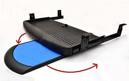 Foto de GTV - Soporte Completo de cajón Deslizante para Teclado y ratón bajo el Escritorio, Color Negro