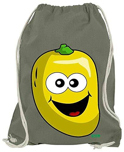 HARIZ Turnbeutel Mango Lachend Früchte Bunt Plus Geschenkkarte Olive Grün One Size - Scheiben Zitrone Künstliche