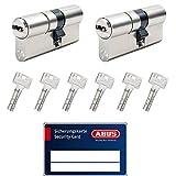 ABUS Bravus.2000 MX Doppelzylinder Codekarte, Bohrschutz, gleichschließend (2 Stück 30/35 inkl. 6 Schlüssel)
