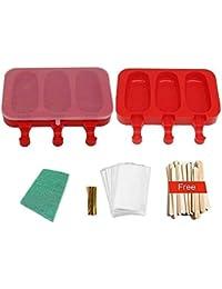 POLOFO 2 paquete de paletas de hielo moldes, moldes de polo de hielo de silicona