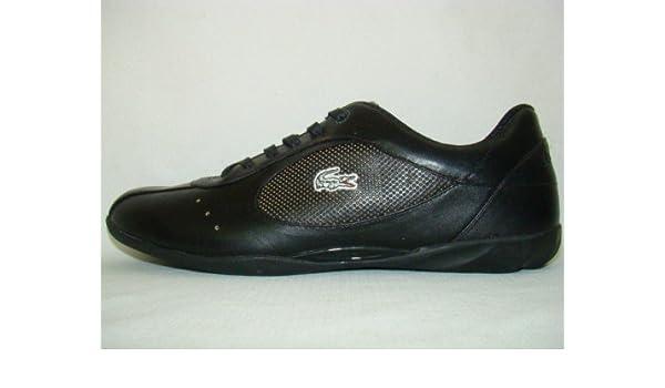 60b9e52988770c Lacoste Sculpted Lace Leder Sneaker schwarz