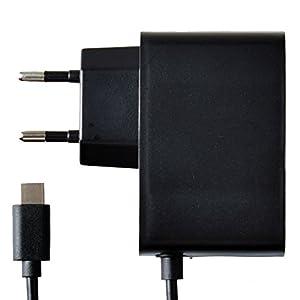 Ladegerät für Nintendo Switch Type C Ladeadapter Beidseitig mit USB Type C Ladekabel für Nintendo Switch(Schwarz)
