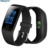 WCPZJS V10 Smart Armband Herzfrequenz Blutdrucküberwachung Sport Fitness Tracker Smart Armband Farbe Touch Display Smart Band