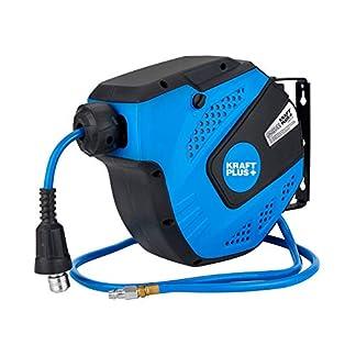 KRAFTPLUS® K.932-9710 Carrete de manguera de aire con automática retráctil, 10m – 20bar