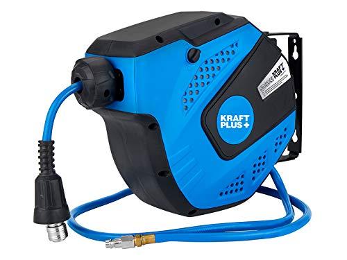 Kraftplus® K.932-9710 Tuyau à air comprimé avec dérouleur automatique - 10 m - 20 bar
