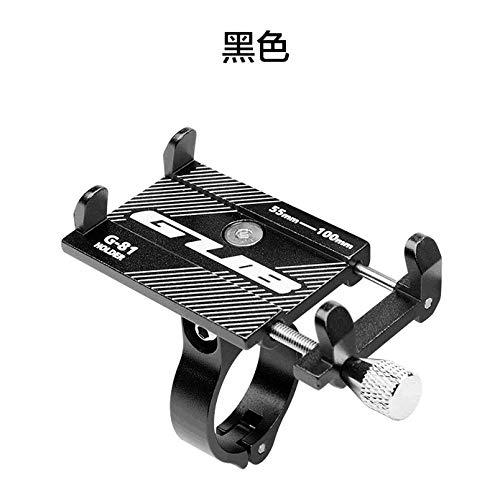 Mountainbike Aluminiumlegierung Handyhalterung Elektro-Akku Motorrad-Handyhalterung, schwarz -
