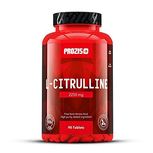 Prozis Stickoxid Ergänzungsmittel L-Citrulline 2250mg - Pre Workout - Unterstützt Leber-Detox und Kreislauf, Spitzenleistung und Muskelerholung - 90 Tabletten!