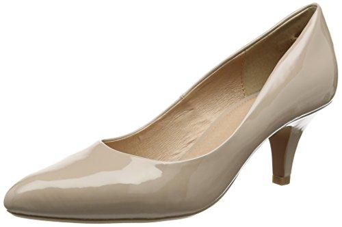Lotus Women Clio Platform Heels, Beige (Nude Shiny), 6 UK 39 EU