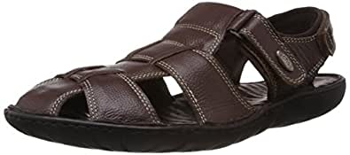 Dr.Scholl Men's Bolt Sandal Brown Leather Athletic & Outdoor Sandals - 10 UK/India (44 EU) (8644875)
