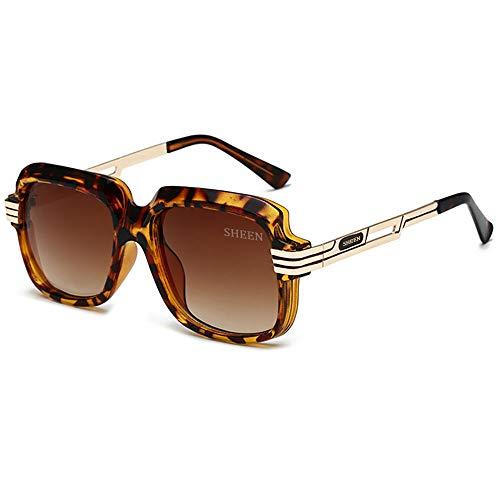 SHEEN KELLY Große Luxus Retro Sonnenbrille Herren Quadrat Vintage Designer Damen Sonnenbrille Pilot Sport Fahren Avitor Gradienten Linse Braun