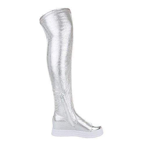 Ital-Design , Bottes classiques femme Silber