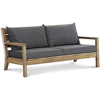 Amazon.de: Lounge-Sofa Gartensofa Couch 2-sitzer Teak
