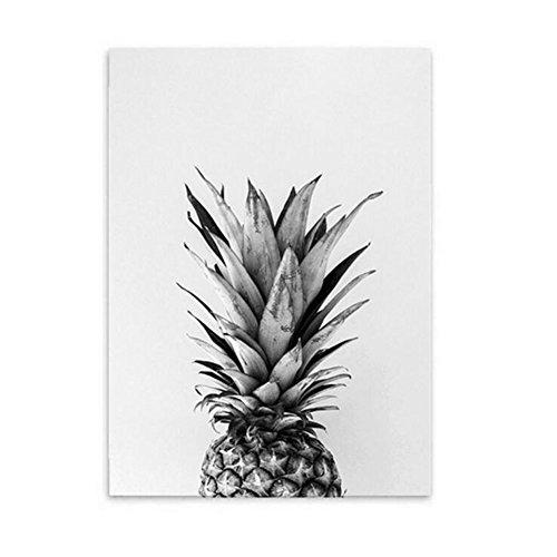 MINRAN DECOR BA Leinwanddruck Wandbilder Schlafzimmer Bloomma leinwand Bild ohne Rahmen für zu Hause Moderne Dekoration Pflanzen Muster Graue Ananas, 01, 40x60cm