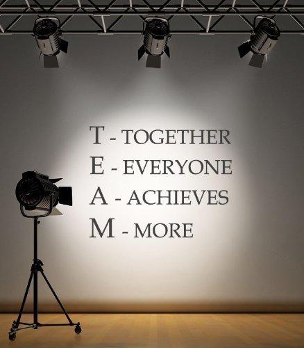 Squadra adesivo da parete motivazionale frase together ognuno raggiunge più decalcomania ispiratore - dorato opaco, l