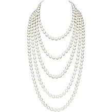 a5600f1e8e55 BABEYOND 1920s - Collar de perlas sintéticas