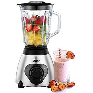 Standmixer-Glas-Edelstahl-15-Liter-BPA-Frei-600-Watt-Smoothie-Maker-Universal-Power-Mixer-Zerkleinerer-Ice-Crusher-Shaker-Glasbehlter-24000-Umin