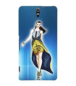 superb Girl design 3D Hard Polycarbonate Designer Back Case Cover for Sony Xperia C5 Ultra Dual :: Sony Xperia C5 E5533 E5563