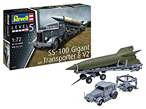 Revell-SS-100 Gigant + Transporter + V2, Escala 1:72 Kit de Modelos de plástico, Multicolor, 1/72 (Revell 03310 3310)