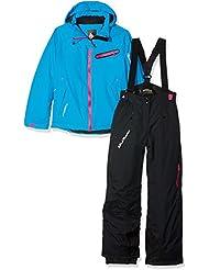 Peak Mountain GasTec conjunto de esquí para niña, color azul/negro, tamaño 12 años