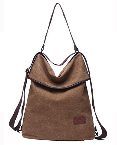 436b530e0587c Travistar Damen Rucksack Canvas Schultertasche Handtasche – Damen  Multifunktionsbeutel für Arbeit
