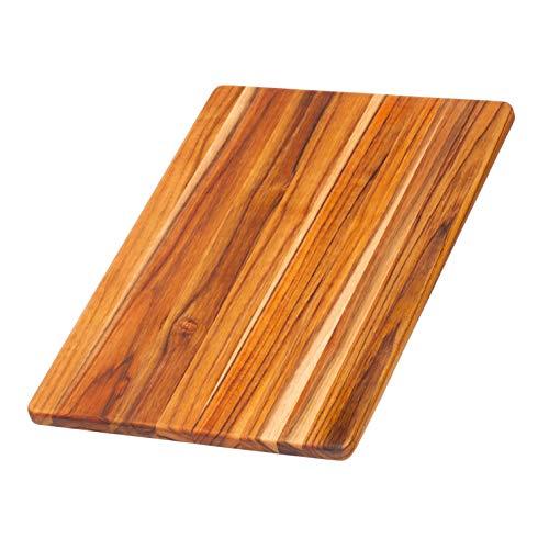 Teak Haus Schneidebrett 40x28x1,4cm, Holz, braun, 40 x 28 x 1.4 cm