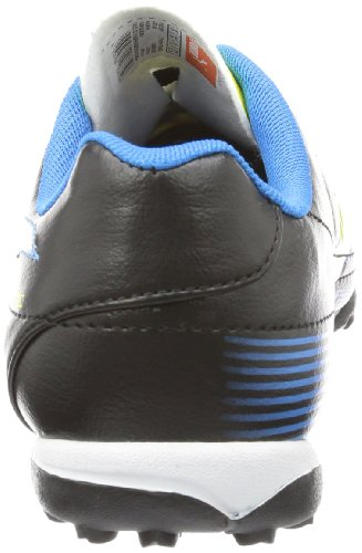 Puma Velize II TT Jr 102980 Unisex-Kinder Fußballschuhe Schwarz (black-blazing yellow-brilliant blue 02)