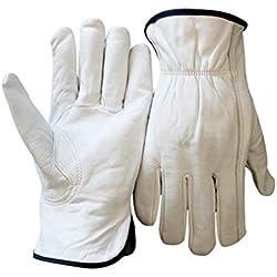 Car cover Schaffell-Fahrer-Handschuhe Hausgarten-Handschutz-Radfahrenfahrer-Behandlung-Reparatur-Herstellung (Farbe : Weiß, größe : L)