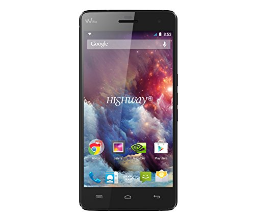 "Wiko Highway 4G - Smartphone libre Android (pantalla 5"", cámara 16 Mp, 16 GB, Quad-Core 2 GHz, 2 GB RAM), negro"