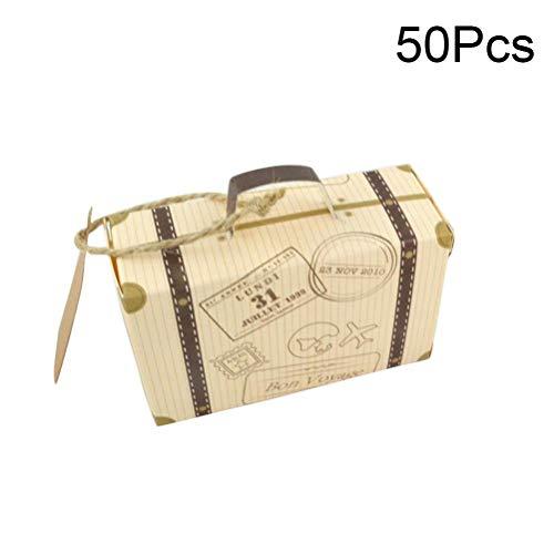 offer Vintage Wedding Favor Box mit Kraft Karte und Sackleinen Bindfäden für Hochzeit Party-Party-Baby-Dusche Reisen unter dem Motto Party Favor ()