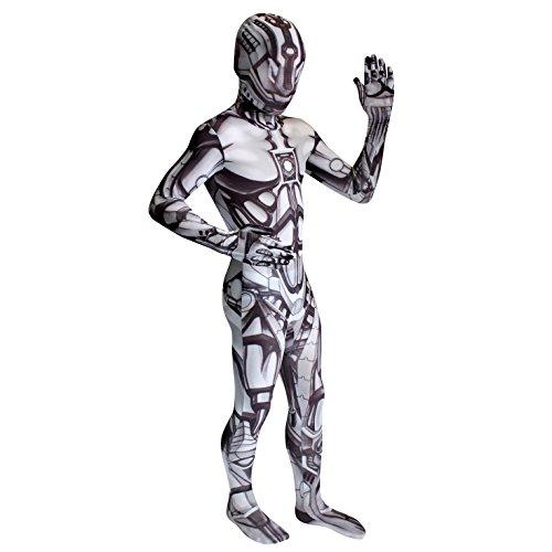 Morphsuits KLMOAM - Monster Android Roboter Kinder Kostüm, 119-136 cm, Größe (Kostüm Roboter)