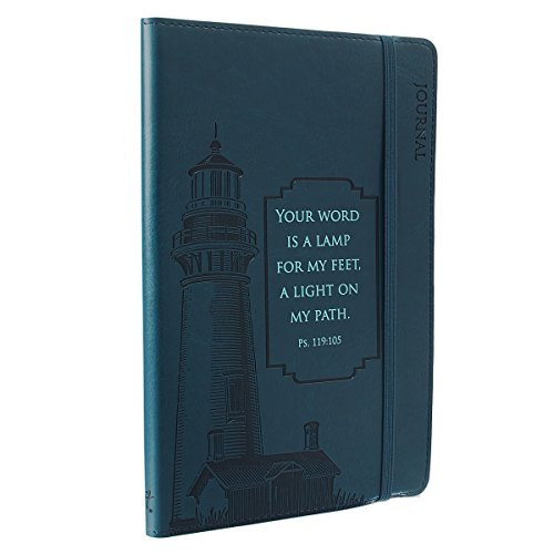 Journal - Lux-Leather - Navy Blue Lighthouse