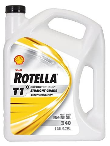Shell Rotella 550019858-3PK T1 40 Heavy Duty Engine Oil - 1 Gallon Jug Pack of 3 by Shell Rotella