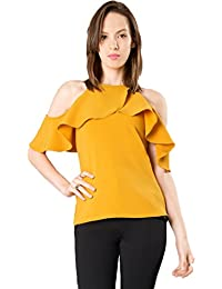 J B Fashion Women's American Crepe Western Wear Top