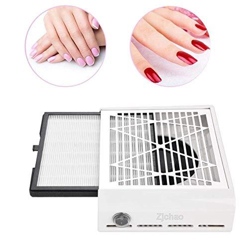 Aspiratore da tavolo, aspirapolvere per polvere delle unghie, un potente motore assicura una forte aspirazione per manicure e pedicure della polvere pulizia di utensili per manicure pedicure