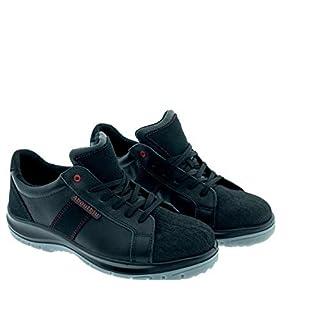 Aboutblu 1928706LA S3 SRC DGUV 112-191, Detroit Low, Water Repellent Safety Shoe, Unisex, Black, Leather, Size 42