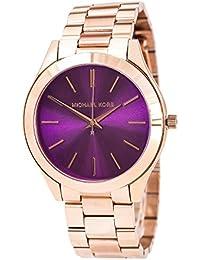 Michael Kors MK3293 - Reloj con correa de acero para mujer, color morado / gris