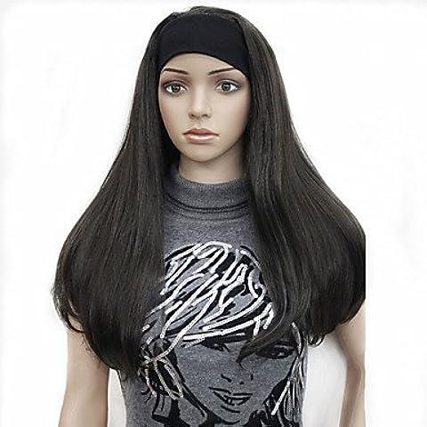 HJL-3/4 parrucche parrucca mezza con fascia lunghi