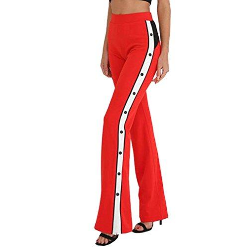 Nuevo!! Pantalones De Pierna Ancha Aberturas En Los