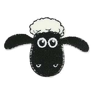 Ecusson Thermocollant Shaun le mouton 55x37 mm Beige/Noir x1
