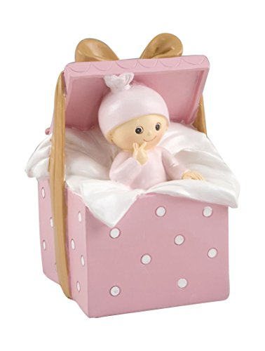Mopec Cake Figure Piggy Bank Baby Gift Box, Broken White