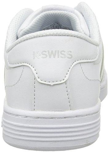 K-Swiss Hoke J, Sneakers Basses mixte enfant Blanc (White/White)