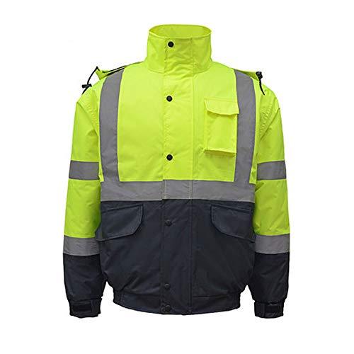 Reflektierende Baumwollmantel-Verkehrssicherheit Baumwolljacke Autobahn Politische Große Kleidung Reitjacke Männer Winter Kalt Warm Gute Qualität (größe : XXL)