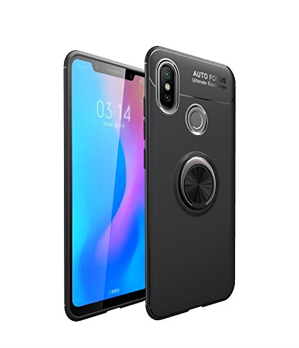 Yhuisen Xiaomi Mi8 Case، صدمات ضد الصدمات Drop TPU نحيف حالة وقائية مع حلقة تناوب 360 لدرجة Xiaomi Mi 8 (اللون: أسود)