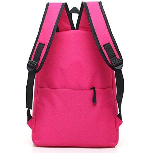 Y&F Frau Schülertasche Rucksack Rucksack Schultertaschen Handtasche 30 * 12 * 42cm Pink