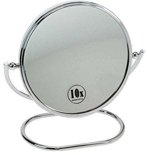 Fantasia Miroir à main et à poser Métal Grossissement 10x Argenté
